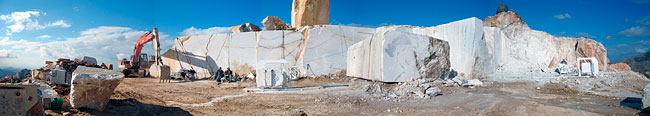 Panoramic quarry picture